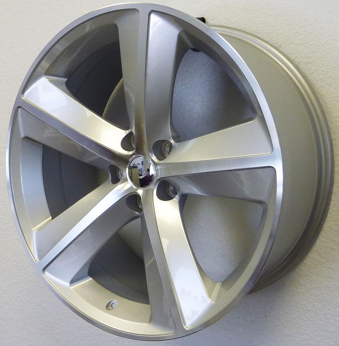 """20"""" Dodge Challenger Charger Magnum 300 Wheels Rims Set Silver Machined SRT8 SRT"""
