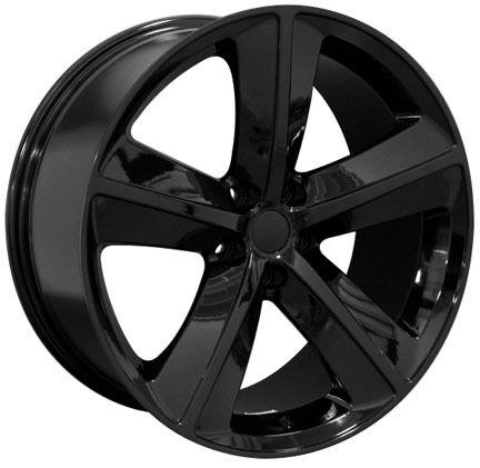 "20"" Dodge Challenger SRT 8 Charger 300 Mopar Replica Wheels Rims Gloss Black 4"