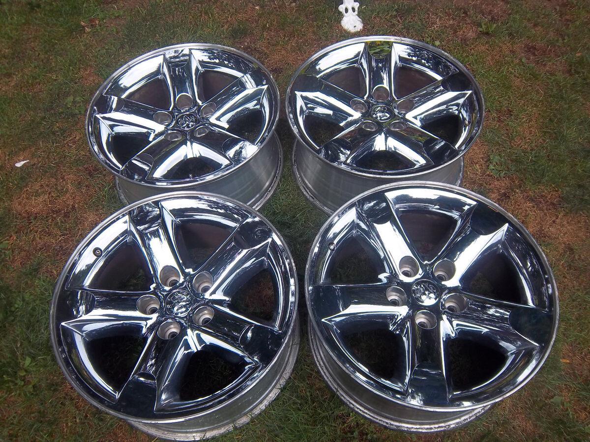 20 Dodge RAM 1500 Hemi Factory Chrome Clad Wheels Rims Durango 02 12 2267