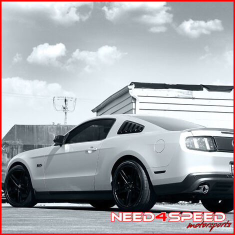 "20"" Ford Mustang GT500 Rohana RC5 Matte Black Concave Staggered Wheels Rims"