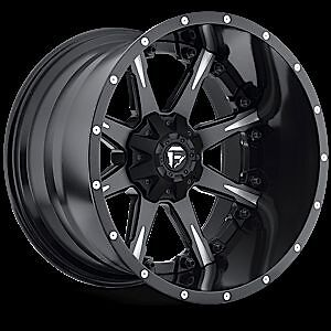 Nutz D251 Two Piece Wheel Set Black Milled 20x10 Rims Ford