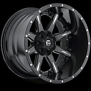 Nutz D251 Two Piece Wheel Set Black Milled 20x12 Rims Ford
