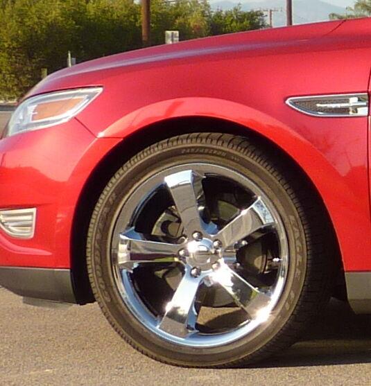 Flex Chrome Wheels Rims Tires Set Package 2009 2010 2011 2012