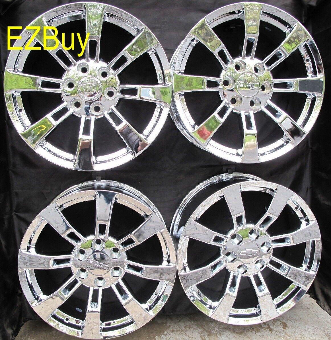 Escalade Factory Style New Chrome Wheels Rims Set of Four 5409