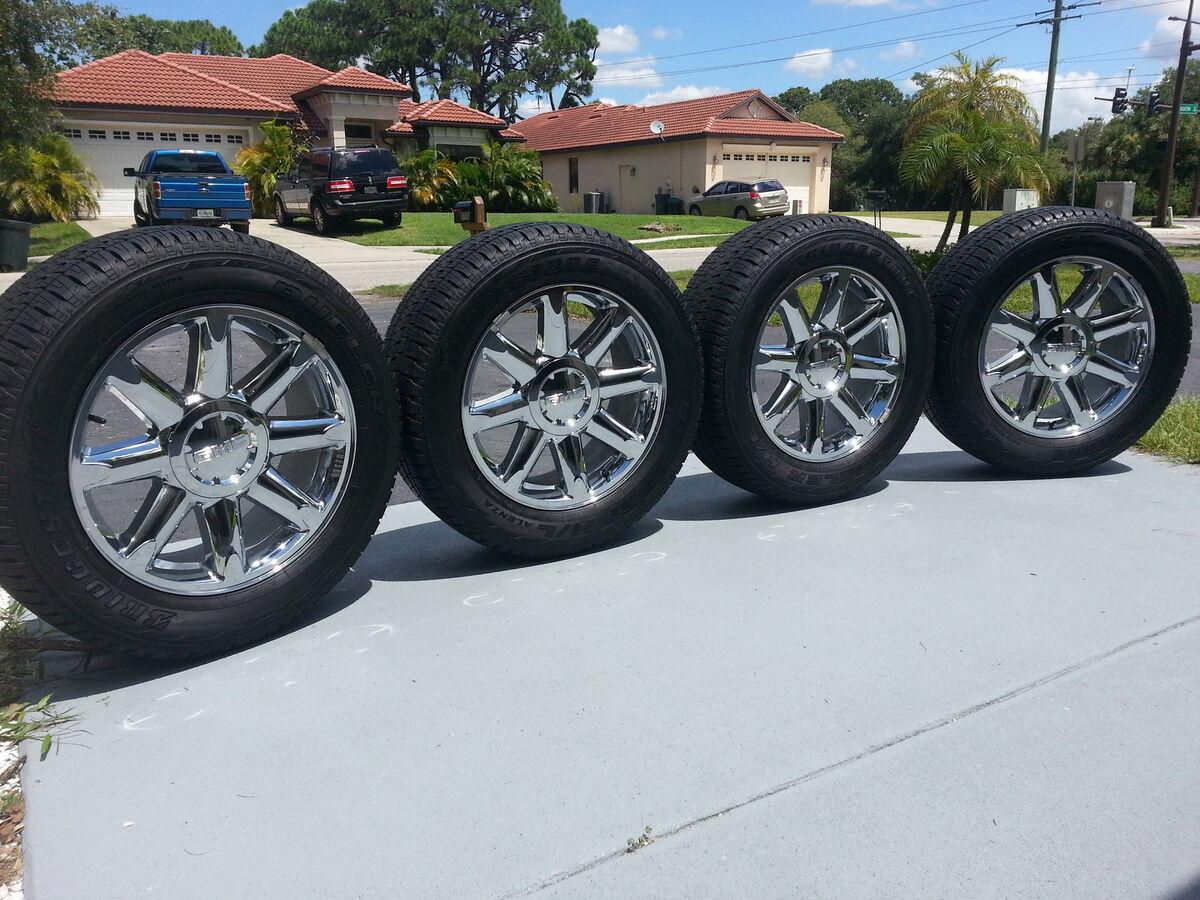 "20"" GMC Yukon Denali Wheels Rims Tires Center Caps Sierra C3 Silverado Tahoe"