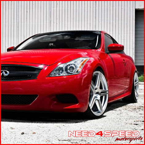 """20"""" Infiniti G37 G37S Coupe Incurve IC S5 Concave Silver Staggered Rims Wheels"""