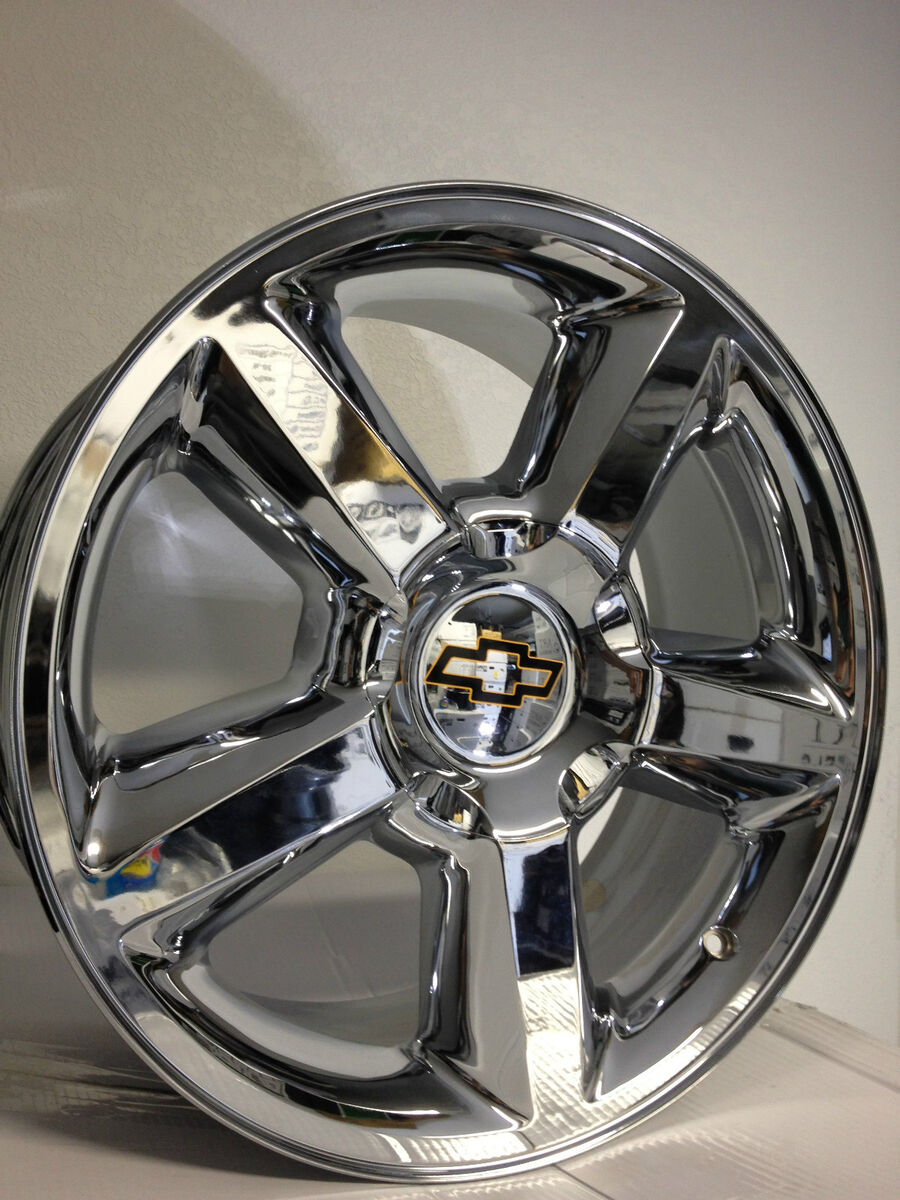 Chrome Chevrolet Tahoe Silverado LTZ Factory OE Wheels Rims 20x8.5 +15