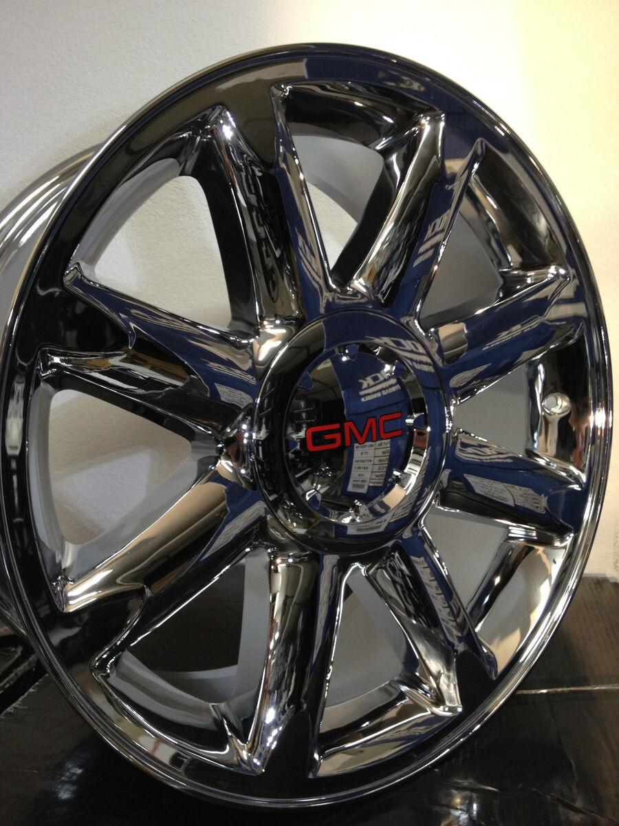 Chrome GMC Yukon Denali OE Factory Wheels Rims 6x5 5 6x139 7 Sierra