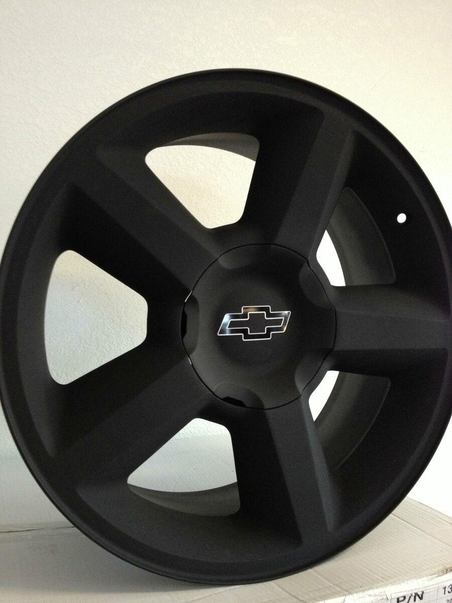 Black Chevrolet Silverado Tahoe Avalanche Ltz Factory Rims