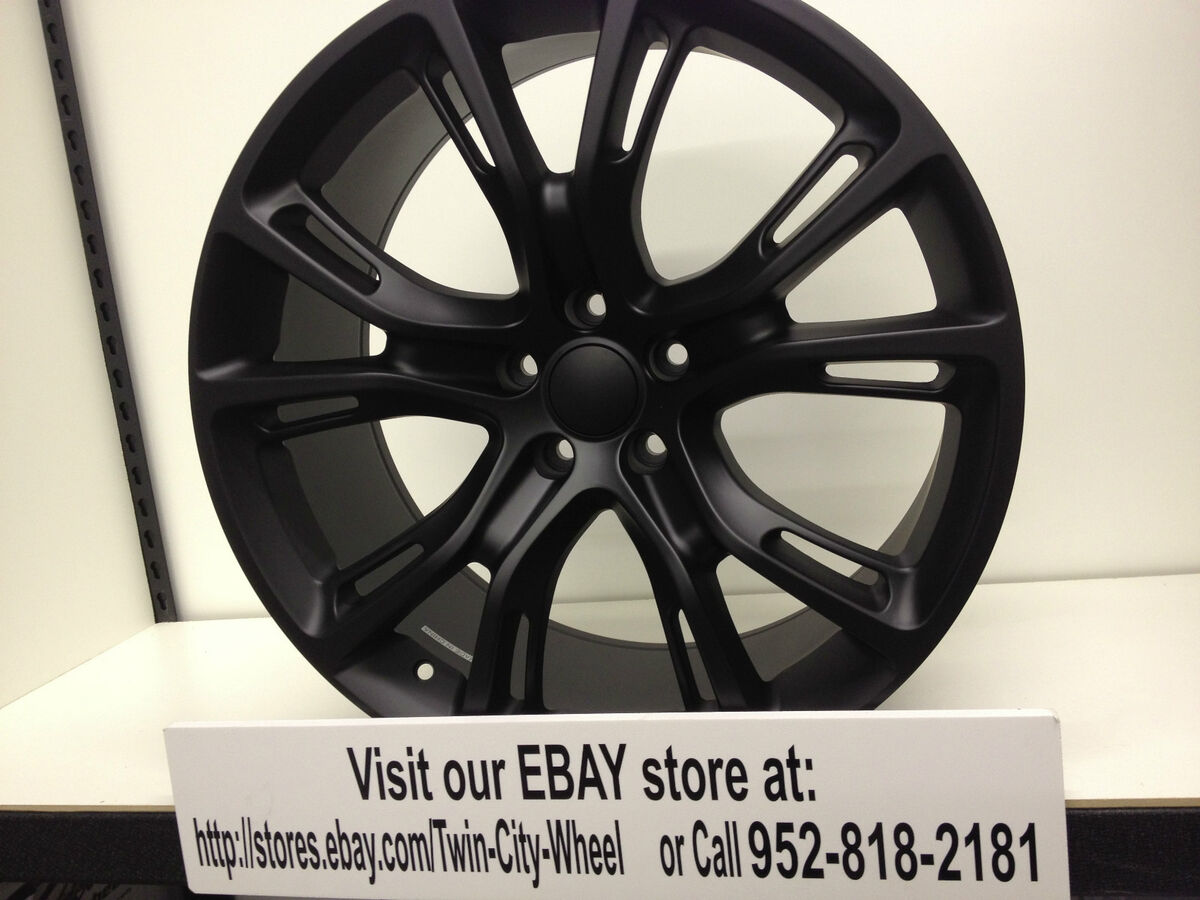 20 inch Matte Black Jeep Grand Cherokee SRT8 Wheels Rims Wrangler Cherokee 5x115