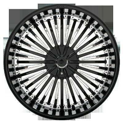20 inch Shooz 011 Black Chrome Wheels Rims 6 Lug 6x114 3 6x4 5 6x115 Durango