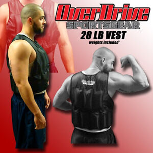 20 LB Adjustable Weighted Training Exercise Weight Vest in Sporting Goods, Exercise & Fitness, Gym, Workout & Yoga | eBay