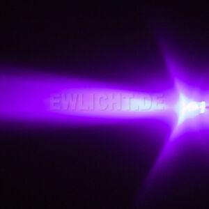 20-Leds-3mm-UV-Violett-1500mcd-Schwarzlicht-LED-PC-Modding-KFZ-Auto-Modellbau