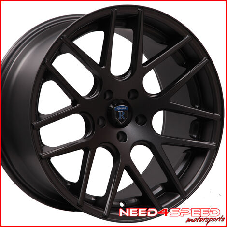 "20"" Mercedes W211 E320 E350 E500 E550 E55 Rohana RC26 Concave Black Wheels Rims"