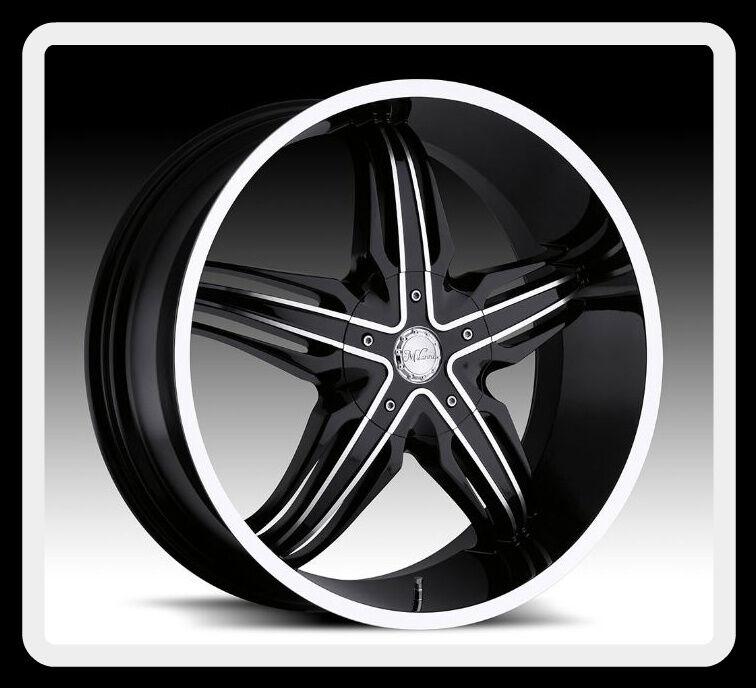 Phoenix 5x4 75 BMW Camaro Corvair Black Wheels Rims Free Lugs