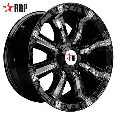20 RBP 94R Black Offroad 20 inch 6 Lug 8 Lug Wheels Tires Rims