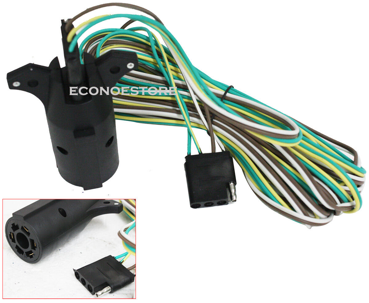 20 U0026 39  Rv U0026 39 S Boat Trailer Tail Light Adaptor  U0026wire Plug W