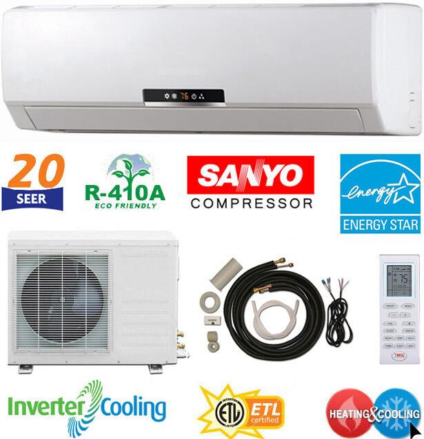 12000 BTU Ductless AC Mini Wall Split Air Conditioner Heat Pump