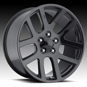 "20"" SRT10 Dodge RAM Laramie Hemi Dakota Durango Factory Style Wheels Rims Black"