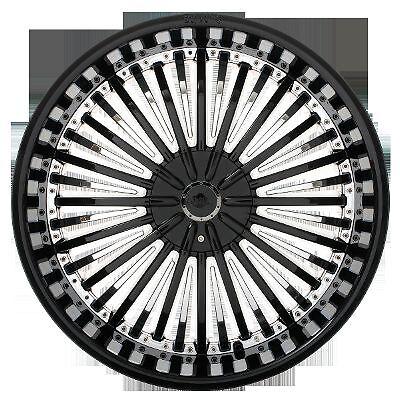 """20"""" Shooz 011 Black Chrome Wheels Rims 4 Lug 4x100 4x108 4x4 25 4x114 3 4x4 5"""
