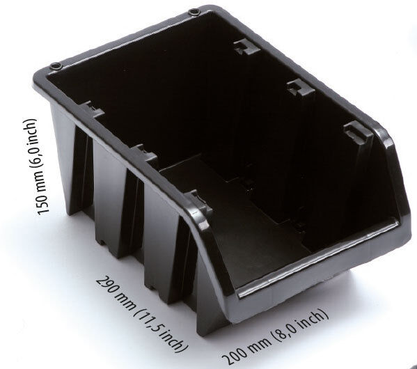 20 stapelboxen set orange sichtlagerboxen 15x29x20cm ebay. Black Bedroom Furniture Sets. Home Design Ideas