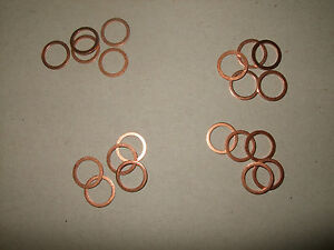 20-Stueck-Kupferflachring-10-x-13-5-x-1-mm-NEU-Kupferring