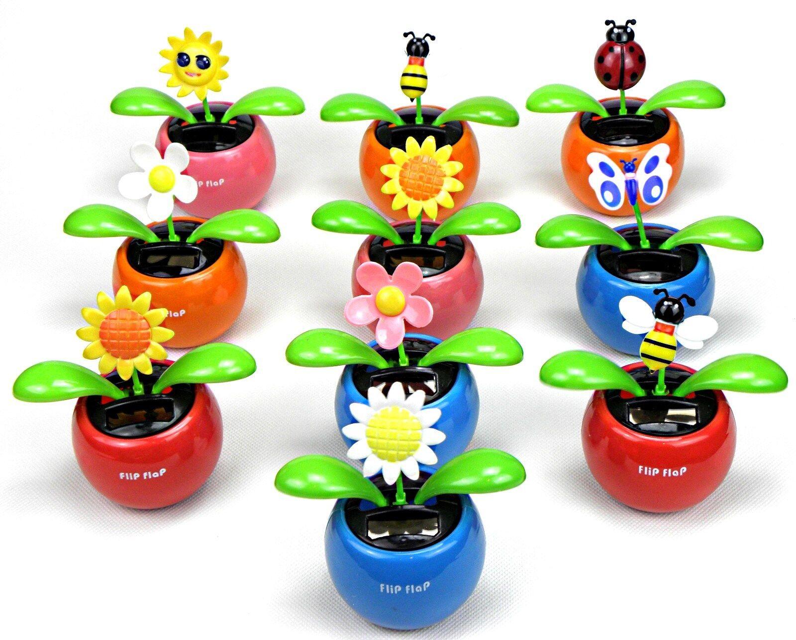 20 Stück WackelBlume Solarblume Flip Flap Solar Flower Blume MEGAPREIS NEUWARE