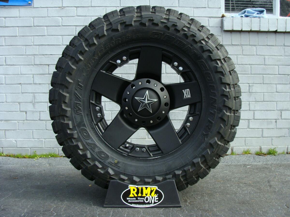"20"" XD Rockstar Black 33x12 50R20 Toyo Open Country MT 33"" Mud Tire Best Mileage"