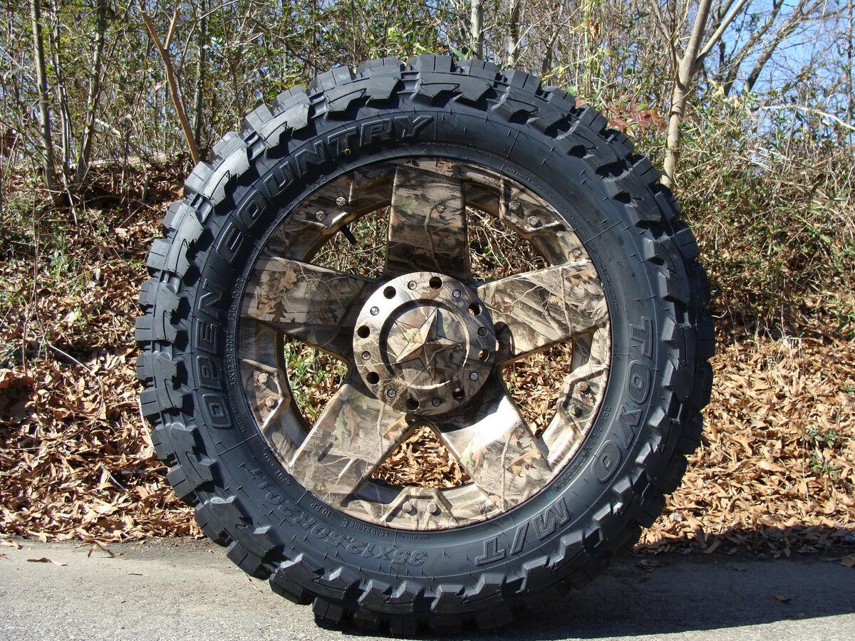 "20"" XD Rockstar Wheels Camo 33x12 50 20 Toyo MT 33"" Tires Ford Chevy Dodge"