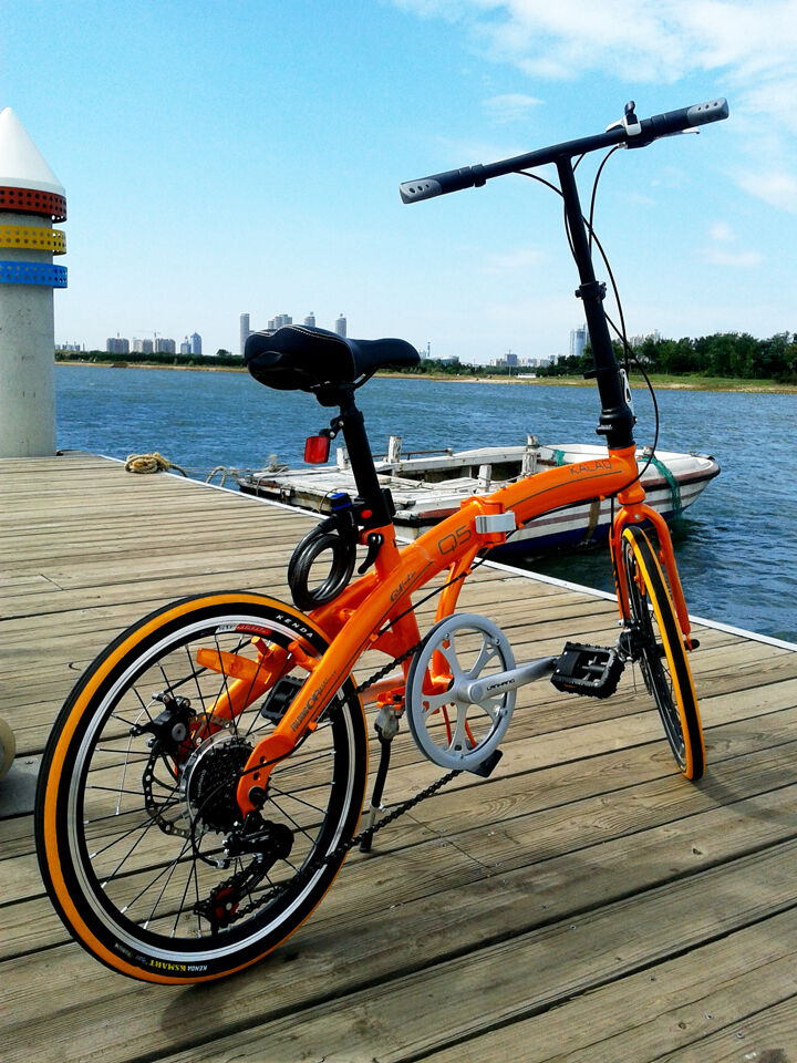 quality folding bike road Bicycle shimano 7 speed (disc brake)