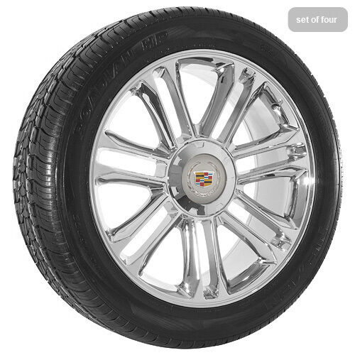 "20"" inch Cadillac Escalade Platinum Edition Chrome Wheels Rims and Tires"