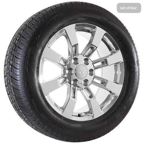 "20"" inch GMC Yukon Denali Sierra Chrome Wheels Rims Tires"