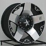 20 inch Silver XD Rockstar Wheels Rims Chevy Truck C10 Jeep Wrangler