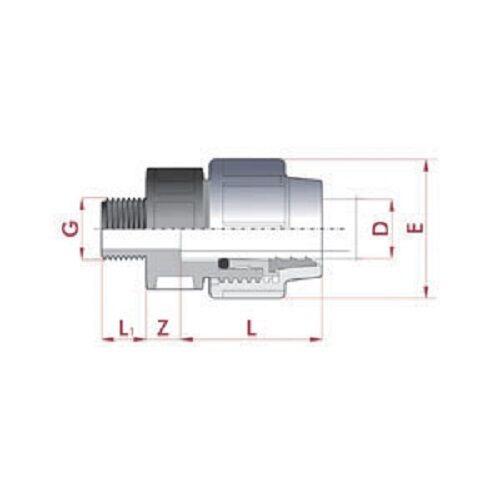 20-mm-PE-Rohr-Anschlussverschraubung-mit-1-2-Aussengewinde-TOP-QUALITAT-Nr-201