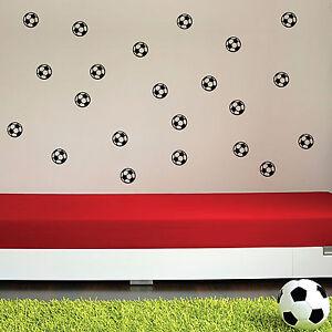 20 x football kids nursery bedroom wall art stickers wall football soccer ball broken wall stickers tv background