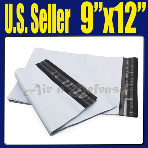 "200 9 x 12 POLY MAILERS ENVELOPES PLASTIC SHIPPING BAGS SELF SEAL 9"" x 12"" 4 x50 in Business & Industrial, Packing & Shipping, Mailers 