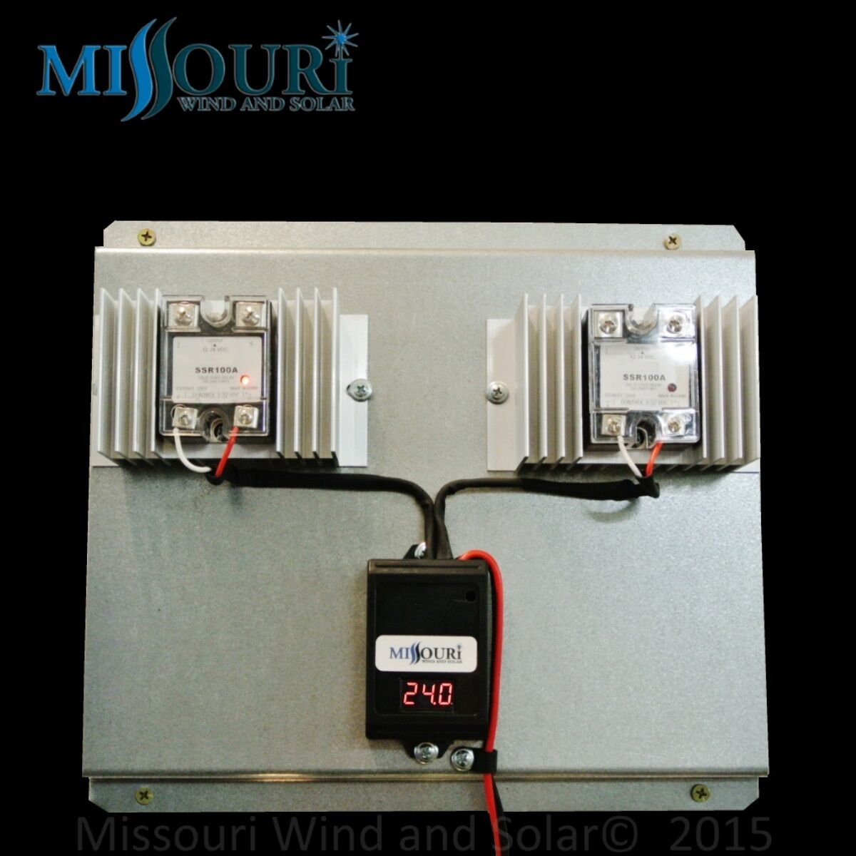 200 Amp 24 Volt Solid State Digital Charge Controller 4 Wind Turbine Solar panel