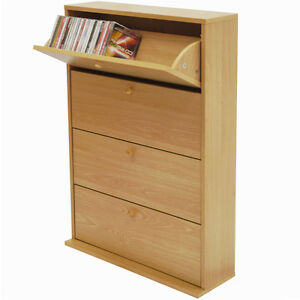 200 cd medien aufbewahrungs schrank buche ms0012 ebay. Black Bedroom Furniture Sets. Home Design Ideas