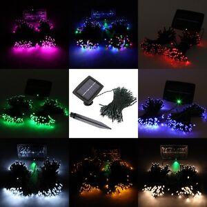 200-LED-Solar-Lichterkette-Weihnachten-Hochzeit-Party-Garten-Dekoration-Leuchten