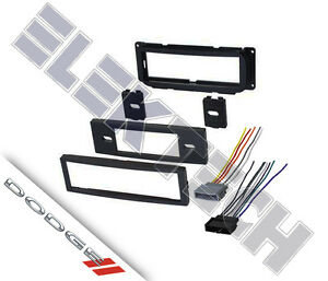single din radio stereo replacement dash mounting kit for ... dodge neon radio wiring #15