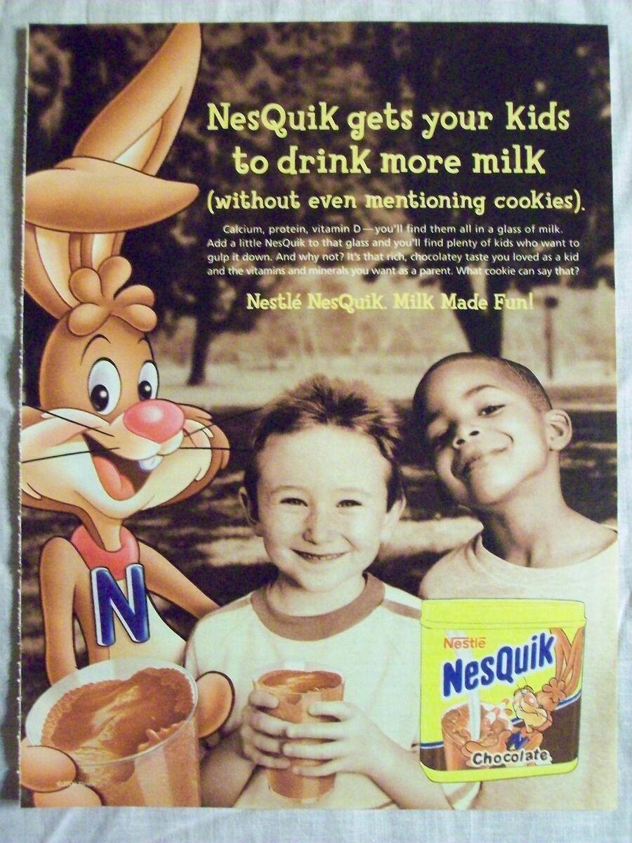 Advertisement Ad Page For Nestle NesQuik Chocolate Milk ...