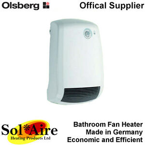 2000w olsberg electric bathroom fan heater 2000 watt wall - Electric wall mounted heaters for bathrooms ...