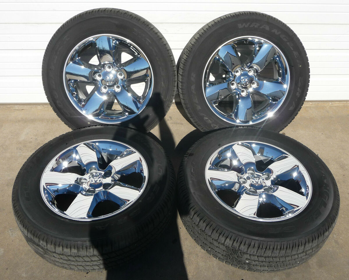 "2002 2013 Dodge RAM 1500 20"" Chrome Clad Limited Wheel Tire Combo"