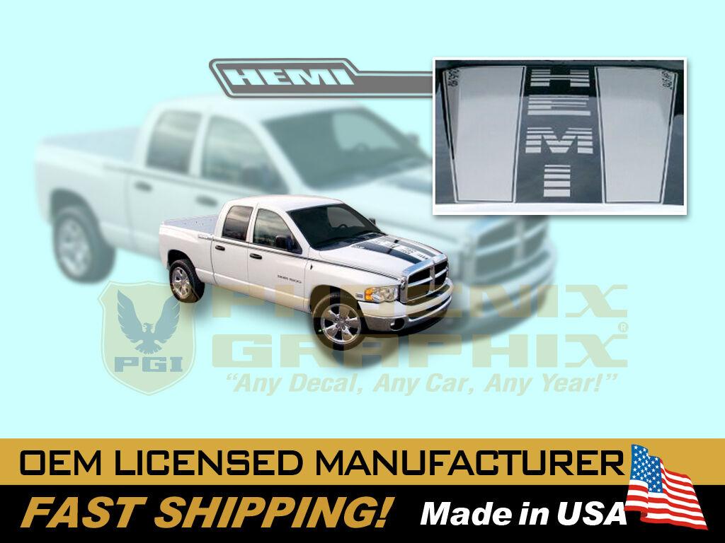 2003 2004 2005 2006 2007 2008 2009 Dodge RAM 1500 Hemi Truck Decals Stripes Kit