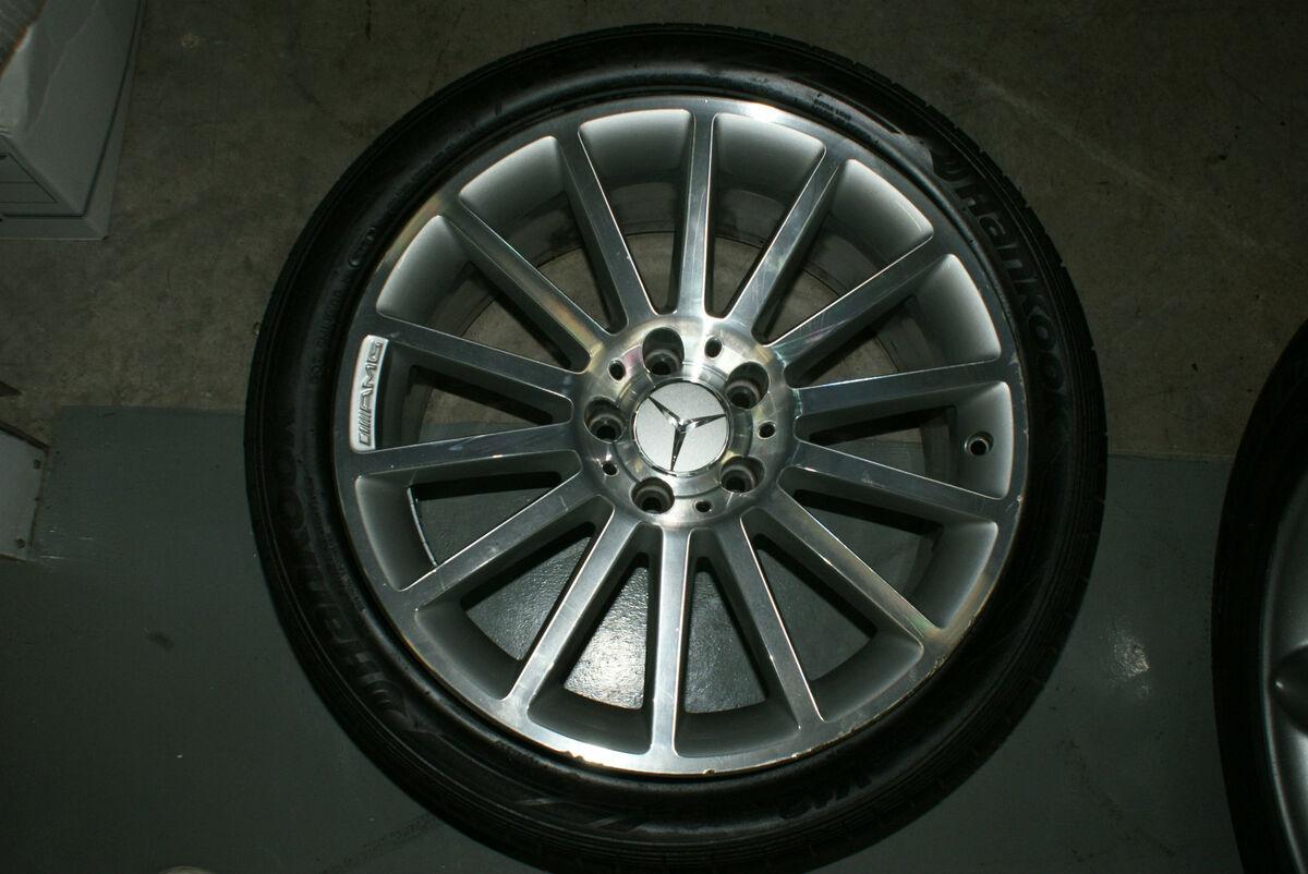 2003 2008 Mercedes Benz SL55 SL65 AMG Wheels and Tires Set Wholesale