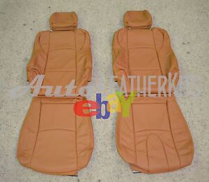 2003 2008 Nissan 350Z Burnt Orange Leather Seat Covers
