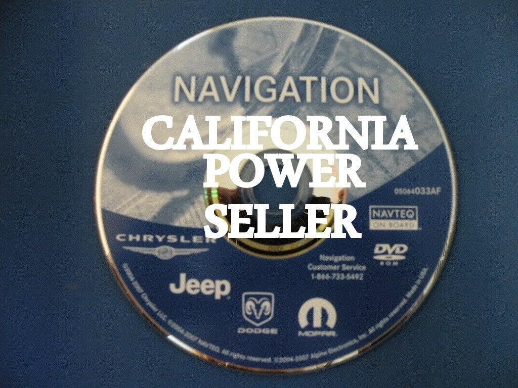 2004 2008 Chrysler Dodge Jeep DVD Navigation GPS Disc 05064033AF 06 07 08 RDS CD