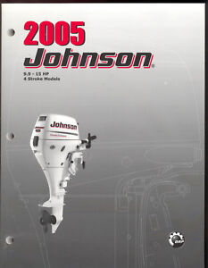 2005 johnson so outboard service manual 9 9 15hp 4 stroke for Johnson outboard motor repair
