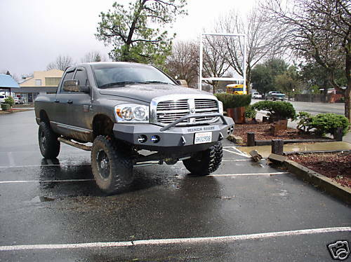 2006 2009 Dodge RAM 2500 Front Winch Bumper w Guard