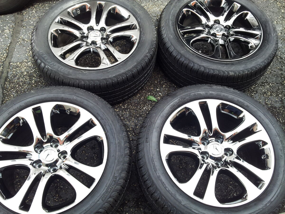 2007 13 Acura MDX 19' Black Chrome Wheels and Michelin Tires 255 50 19